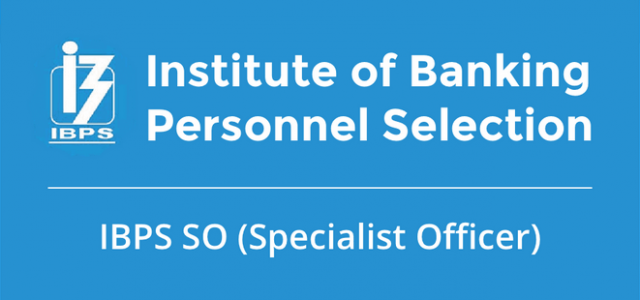 Apply IBPS Specialist Officer SO IX Online Form 2019