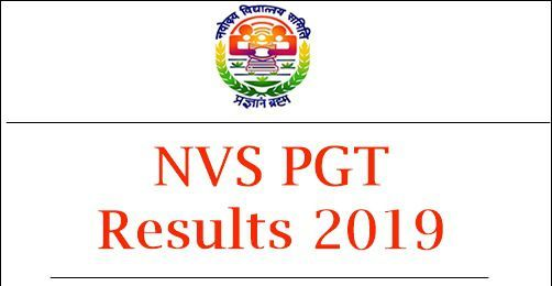 NVS PGT Teacher Other Post Result 2019