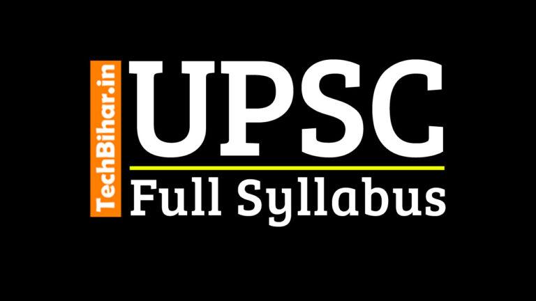 UPSC IAS Pre and Mains Full Syllabus