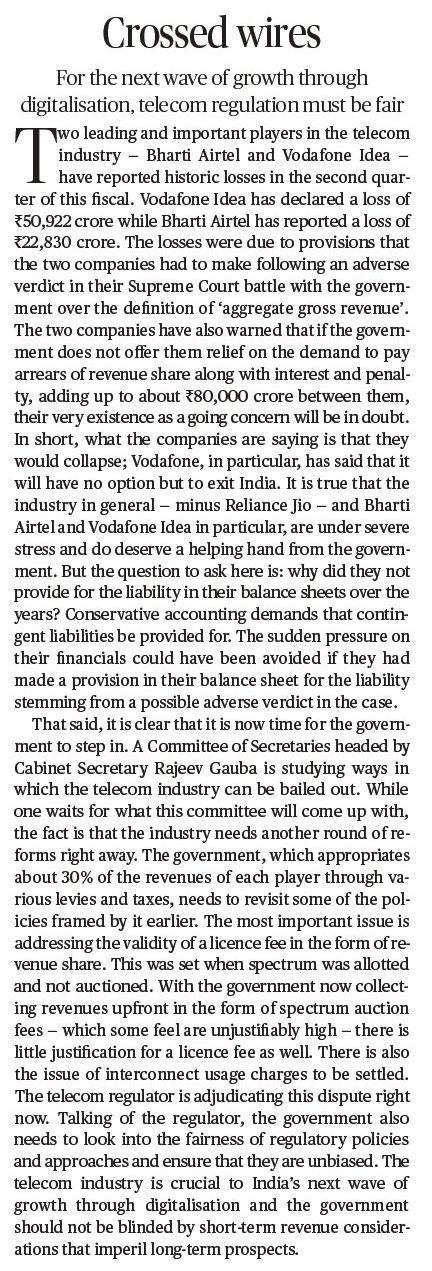 Crossed Wires - A 'The Hindu' Editorial