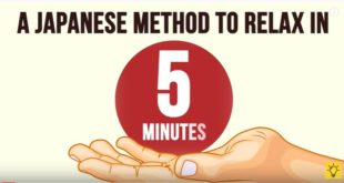 A JAPANESE METHOD TO RELAX IN 5 MINUTES