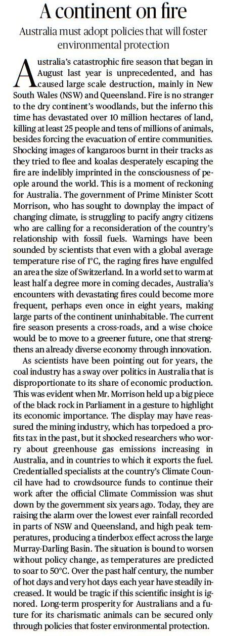 A continent on fire - A 'The Hindu' Editorial