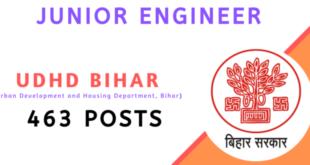 Vacancy in UDHD-Bihar Urban Junior Engineer Online Form 2020